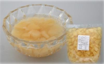 まつの産白桃ダイスカット